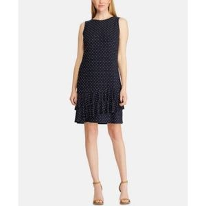 American Living Polka Dot Ruffle A-line Dress